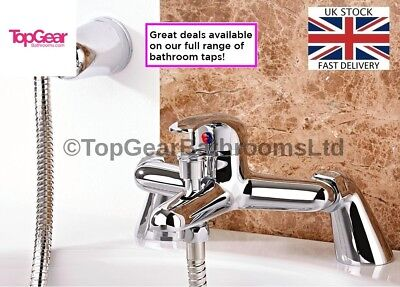 Modern Bath Shower Mixer Tap Complete Set with HandHeld Shower *TG10 WINTER DEAL