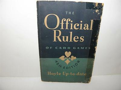 1947 Vintage THE OFFICIAL RULES OF CARD GAMES Hoyle Up-to-Date Book _ Near Mint