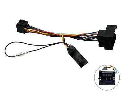 Car Stereo Wiring ISO adaptor with Ignition generator for : BMW X3 2005 on