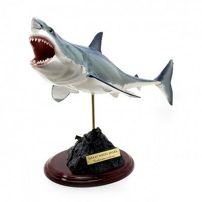 Great White Shark Fish Carving Hand made Resin casting Statue Look so Real !