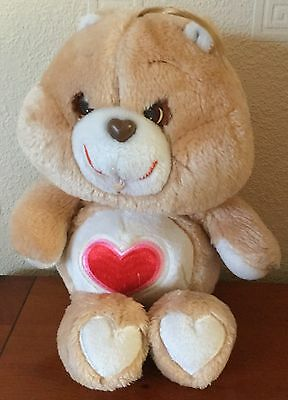 Care Bear Vintage 1983 13 Inch Tenderheart Bear Soft Toy By Kenner