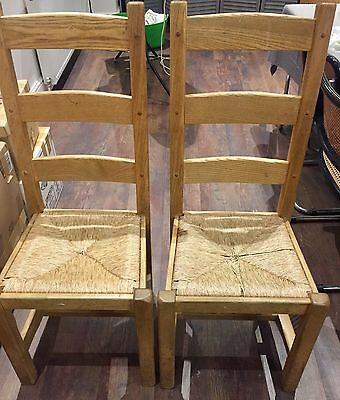 Solid Pine Wood Chair X2