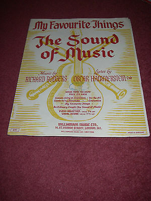 'My favourite things' sheet music from The Sound of Music