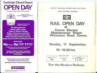 Crewe Electric TMD depot open day specials  Wistaton Road Eastleigh Class 33