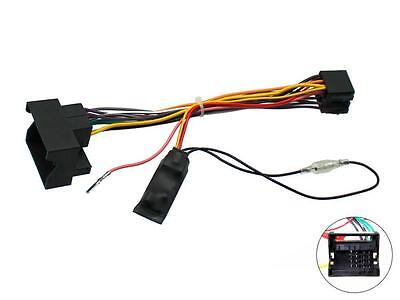 Car Stereo Wiring ISO adaptor with Ignition generator Vauxhall Corsa C 05 on