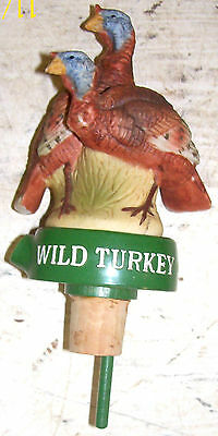 New & Unused Wild Turkey Bottle Stopper Pourer with Double Turkey