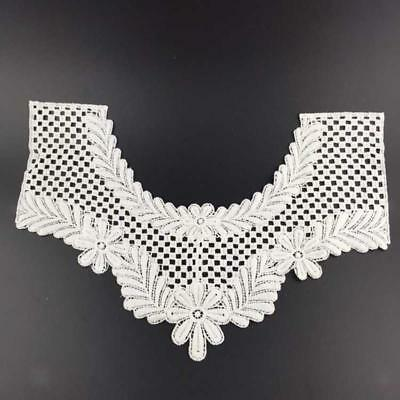 Faux Col Collier Dentelle Blanc Col Claudine Amovible Tissu Couture Forme U