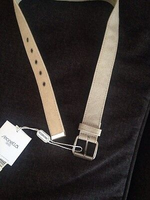 Simonetta Boys' Beige Fabric Belt-Size 4Yr.-MSRP:  $47.00