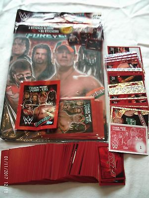 Complete Set 244 Brand New Topps WWE Then Now Forever Stickers and album