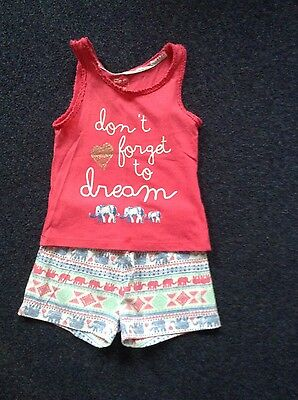 Girls F&F Pyjamas 3-4 Years