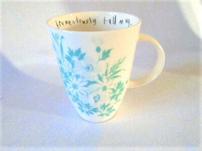 Lisa Stickley for Roy Kirkham China Mug with Pretty Duck Egg Blue Design New