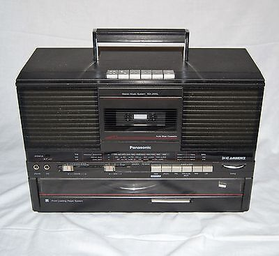 Panasonic Sg-J555L Vintage Boombox With Built In Record Deck
