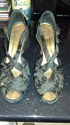 1940's style shoes black