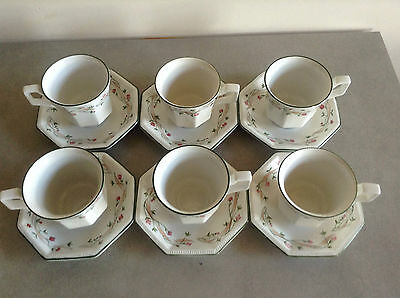 Eternal Beau Expresso Cups and Saucers - Johnson Brothers