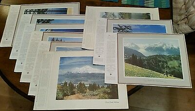 "Lot of 9 Chevron Promotional Prints & Facts ""Let Us Help You See Your West"""