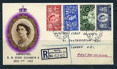FDCs 1953 Coronation set on illustrated hand addressed with Gloucester St cds