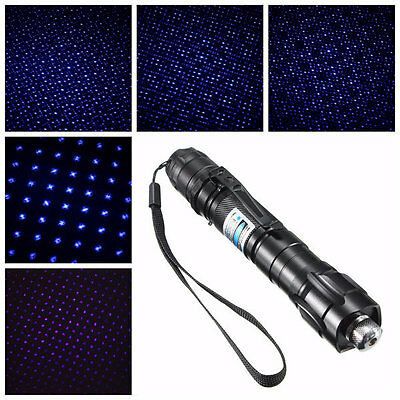 All Star Purple/Blue Light Laser Pointer Pen with Star Cap