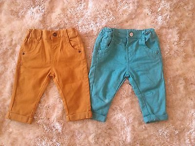 M&S Marks & Spencers Baby Boy Chinos Trousers 6-9 Months Bundle BNWOT