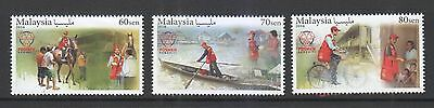 Malaysia 2016 Posmen Komuniti (Community Postman) Comp. Set Of 3 Stamps In Mint