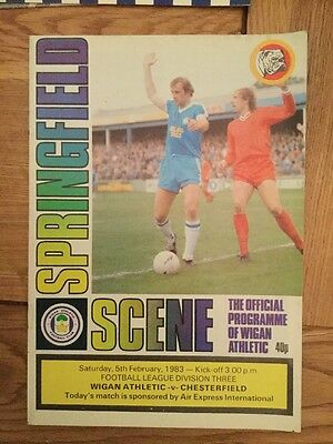 Wigan Athletic v Chesterfield 1982-83