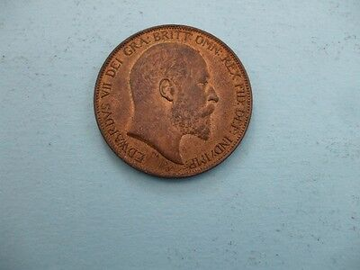 Edward Vii 1902 Penny With Lustre Very High Grade Coin.