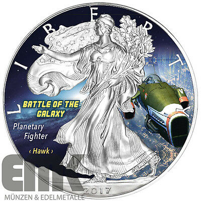 USA - 1 Dollar 2017 - Silver Eagle - Planetary Fighter (4.) 1 Unze Silber Farbe
