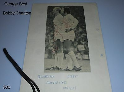 George Best (+) - Bobby Charlton - Autograph - signiert - signed - ManU