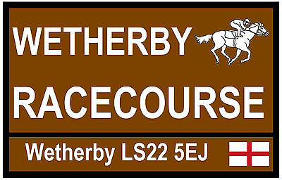 Horse Racing Tourist Signs (Wetherby) - Fun Souvenir Novelty Fridge Magnet