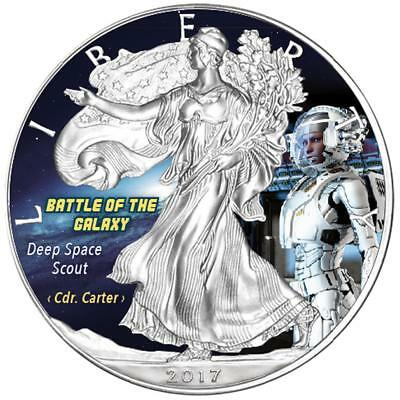 USA - 1 Dollar 2017 - Silver Eagle - Deep Space Scout (1.) - 1 Unze Silber Farbe