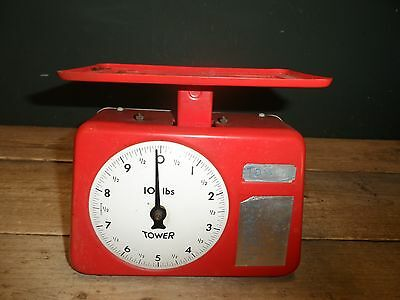 Vintage Tower Red Kitchen Scales