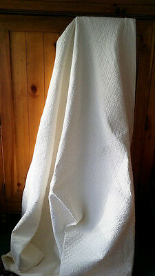 Antique Pennsylvania AMISH WHITE on WHITE Wedding Wholecloth QUILT c.1880