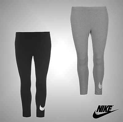 New Ladies Genuine Nike Compression Fitness Workout Gym Crop Leggings Size 8-14