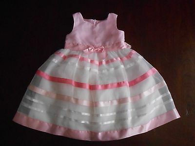Girl's Spring Summer Party Special Occasion Dress Size 5 Pink White Sweetheart