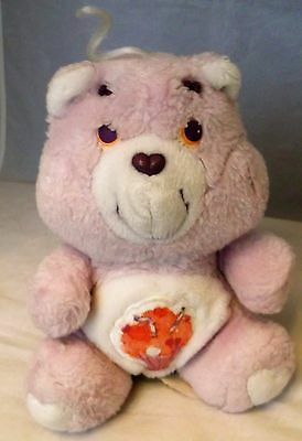 "VINTAGE 1980's PLUSH CARE BEAR 'SHARE BEAR' 6"" PURPLE"