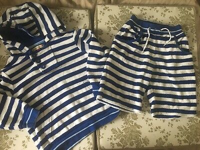 John Lewis Boys Hooded Top And Matching Shorts Size 4 Years