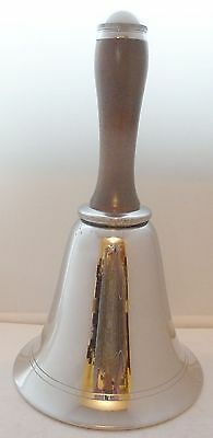 Rare 1937 Silver Plated Hand School Bell Cocktail Shaker Excellent Condition