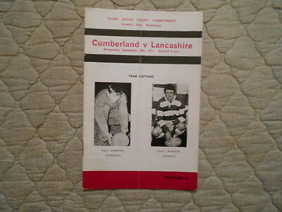 Cumberland V Lancashire Rugby League County Championship Match Programme 1971