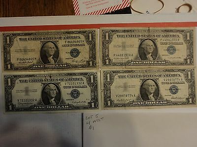 lot of 4 1935 & 1957  $1 Silver Certificate Notes   lot # 5