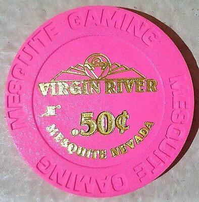 50 Cents Virgin River Casino Chip  Mesquite NV NEW Uncirculated