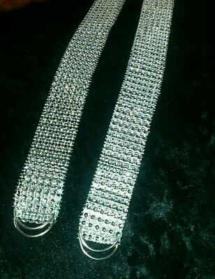 Bling Sparkly (PAIR)Silver Tie Backs -Holdbacks Curtains Voile Freepost