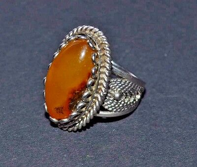 Vintage  Baltic Amber  Jewelry Ring  6 gr