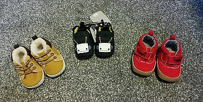 baby boys booties 0-3 months new