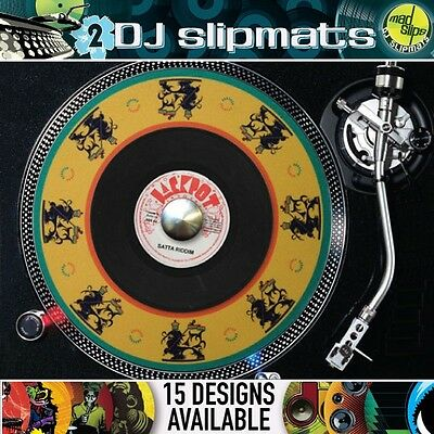 Madslips ::: Pair of premium DJ slipmats (15 different designs available)