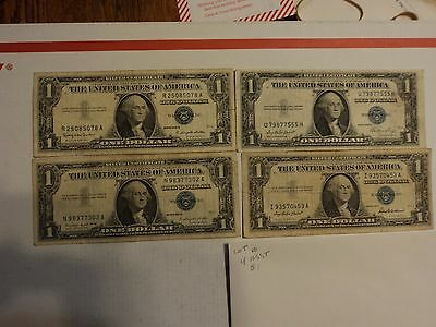 lot of 4 1935 & 1957  $1 Silver Certificate Notes   lot # 10