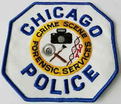 Chicago Police Crime Scene Forensic Services Cloth Patch