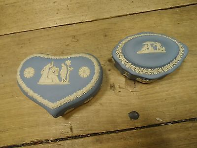 Two Small Blue Wedgwood Trinket Dishes
