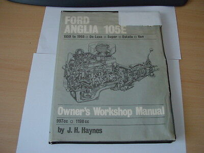 Ford 105E Anglia Work shop Manual1959 to 1968