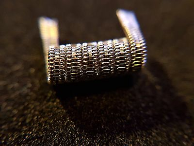 1x Staggered Fused Staple Coil Variante A, Kanthal, Stainless Steel, RDA, RTA, R