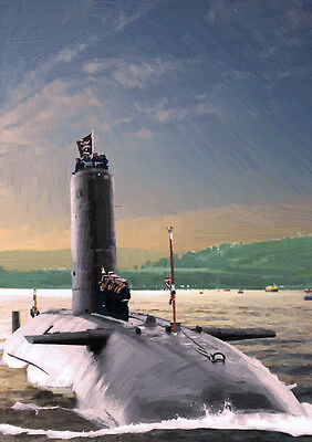 HMS CONQUEROR '82 Return' - HAND FINISHED, LIMITED EDITION ART (25)