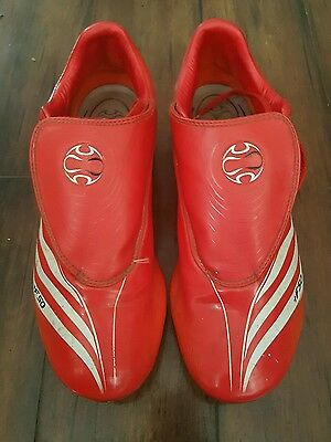 Adidas F50  Tunit Football Boots *Red/White* uk 8.
